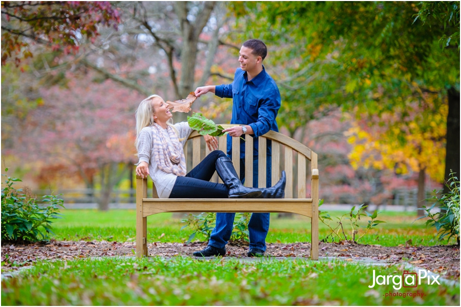Rutgers Gardens Engagement Session