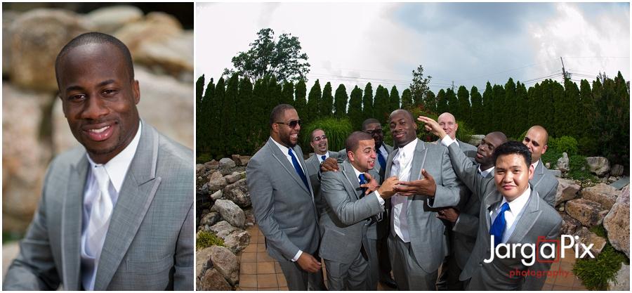 Groom with Groomsmen, The Merion, New Jersey Wedding, Sherine & Robert, JargaPix Wedding Photography