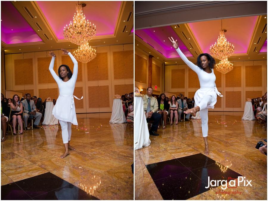 Woman dancing at wedding, The Merion, New Jersey Wedding, Sherine & Robert, JargaPix Wedding Photography
