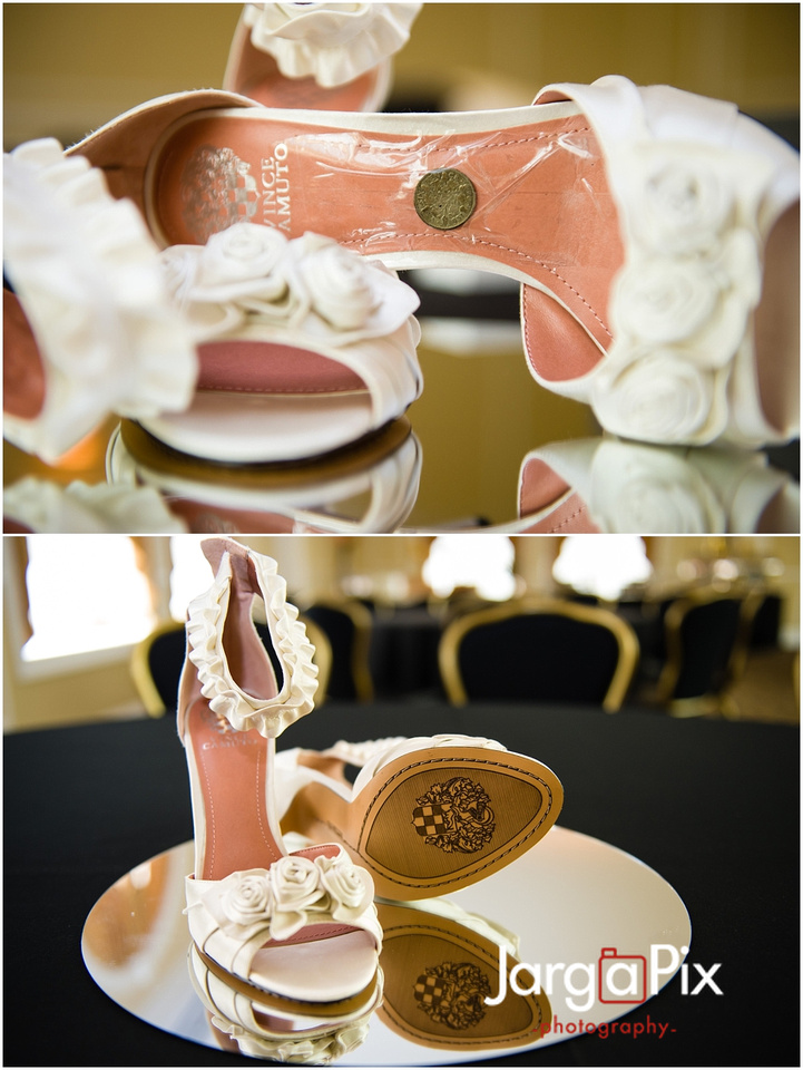 Shoes with coin taped inside, The Merion, New Jersey Wedding, Sherine & Robert, JargaPix Wedding Photography