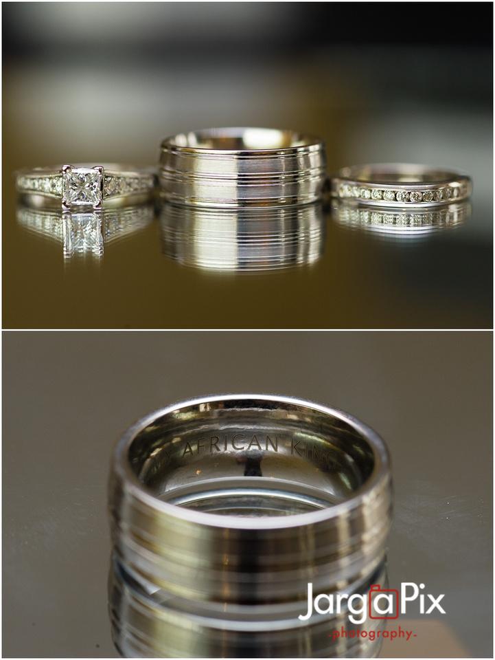 Wedding Rings, African King Wedding Ring, The Merion, New Jersey Wedding, Sherine & Robert, JargaPix Wedding Photography